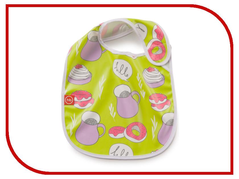Нагрудник на липучке Happy Baby 16009 Candy нагрудник happy baby waterproof baby bib x1 16009 blue яичница