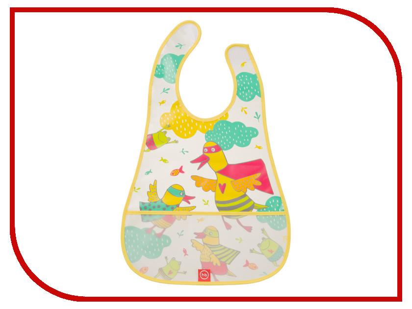 Нагрудник на липучке Happy Baby Birds 16005 Yellow