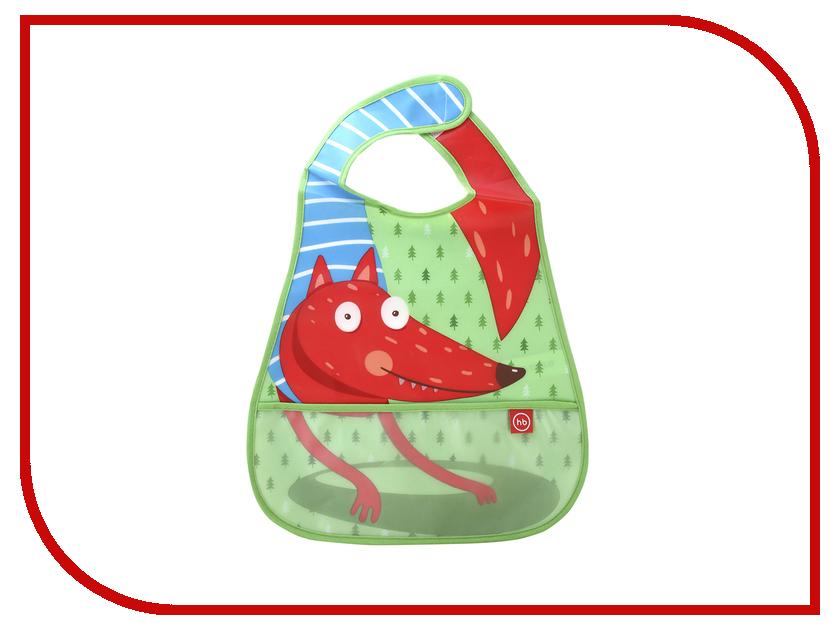 Нагрудник на липучке Happy Baby Fox 16005 Green нагрудник happy baby waterproof baby bib на липучке в ассортименте