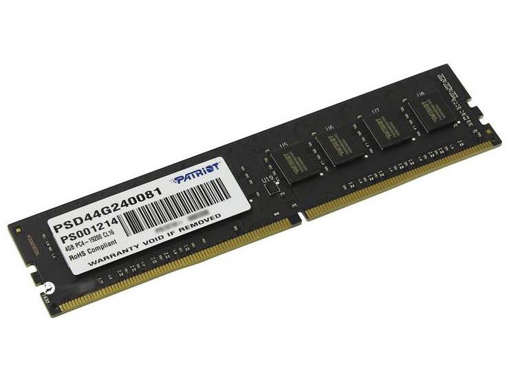 Модуль памяти Patriot Memory PSD44G240081 DDR4 DIMM 2400Mhz PC4-19200 CL16 - 4Gb
