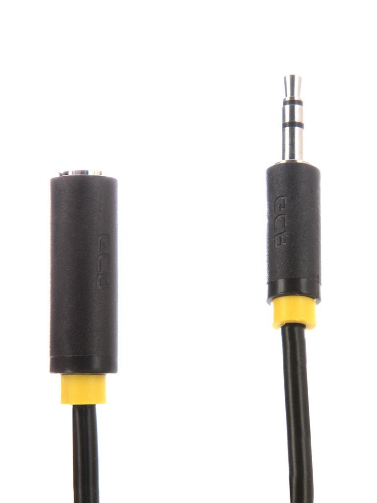Аксессуар Greenconnect Premium 3.5 Jack M - F 5.0m Black-Yellow GCR-STM0114-5.0m