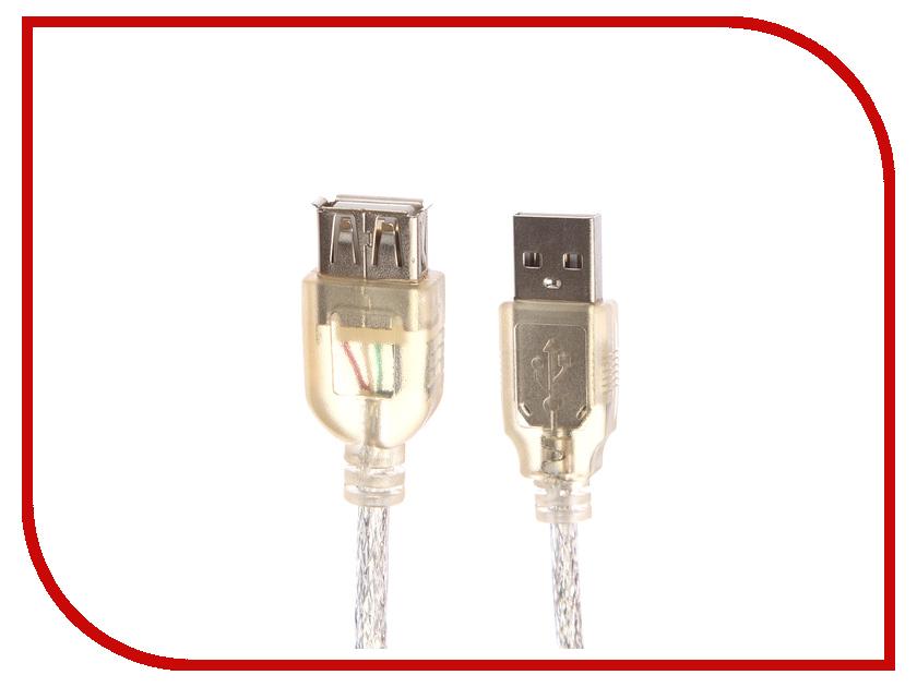 Аксессуар Greenconnect USB 2.0 AM - AF 0.2m Transparent GCR-UEC2M-BB2S-0.2m цена