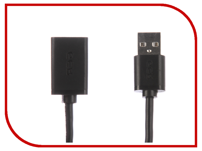 Аксессуар Greenconnect USB 2.0 AM - AF 0.4m Black GCR-50934 кабель удлинительный usb 2 0 am af 1 5м greenconnect плоский синий gcr uec2m2 bd 1 5m