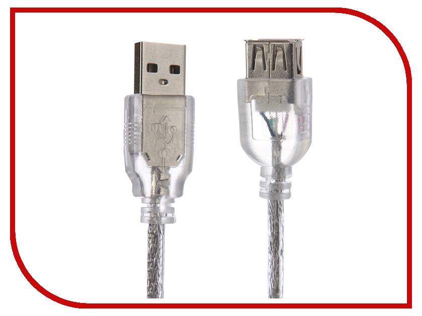 Аксессуар Greenconnect USB 2.0 AM - AF Transparent GCR-50949 аксессуар greenconnect otg micro usb af usb 2 0 1m white gcr mb6af aa2s 1m