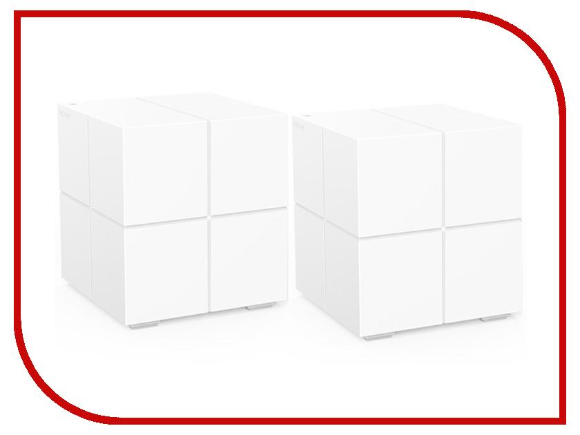 Точка доступа Tenda MW6-2 White усилитель сигнала tenda nova mw6 2 ac1200 домашняя mesh wifi система с 2мя гигабитными портами поддерживает работу в двух диапазонах 2 4 ггц и 5 гг
