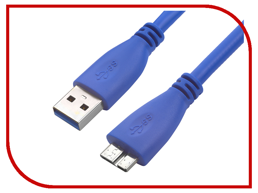 Аксессуар Greenconnect Premium USB 30 AM-Micro B 1m Blue GCR-U3A03-1m