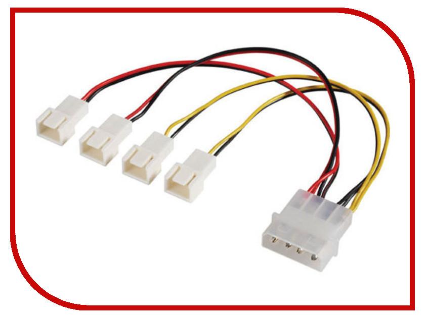 Кабель-разветвитель Akasa 4x3pin 15cm AK-CB001 аксессуар кабель akasa led strip light 20cm ak cbld01 20bk