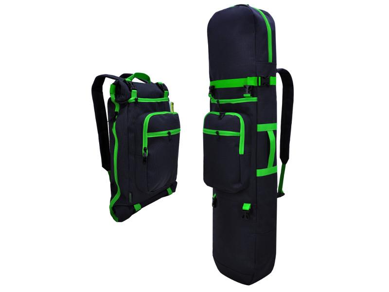 Рюкзак Skatebox Для электросамокатов Graphite-Green STU-ES-34-green