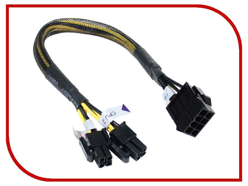 Аксессуар Кабель-удлинитель Akasa ATX12V PSU 8Pin (M) to 8Pin 2x4pin (F) 30cm AK-CB8-8EXT аксессуар кабель удлинитель akasa atx12v psu 8pin m to 8pin 2x4pin f 30cm ak cb8 8ext