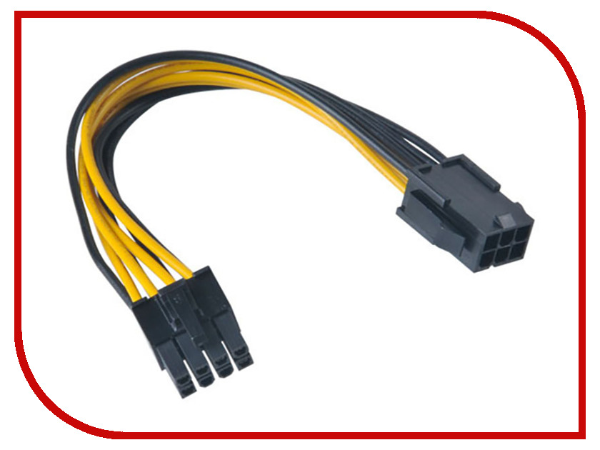 Аксессуар Кабель Akasa PCIe to ATX 12V 15cm AK-CB051 аксессуар комплект кабелей rockdale 15cm ic016 15cm