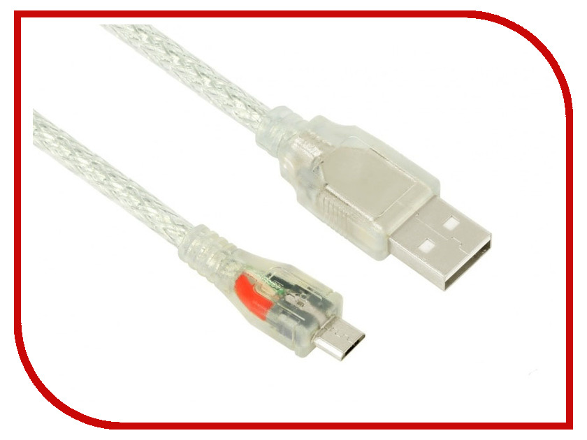 Аксессуар Greenconnect Micro USB 2.0 AM - Micro B 5pin 1.0m Transparent GCR-UA2MCB2-BD2S-1.0m блуза evans evans ev006ewaakk3