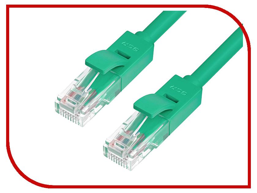 Сетевой кабель Greenconnect UTP 24AWG cat.5e RJ45 T568B 0.8m Green GCR-LNC05-0.8m