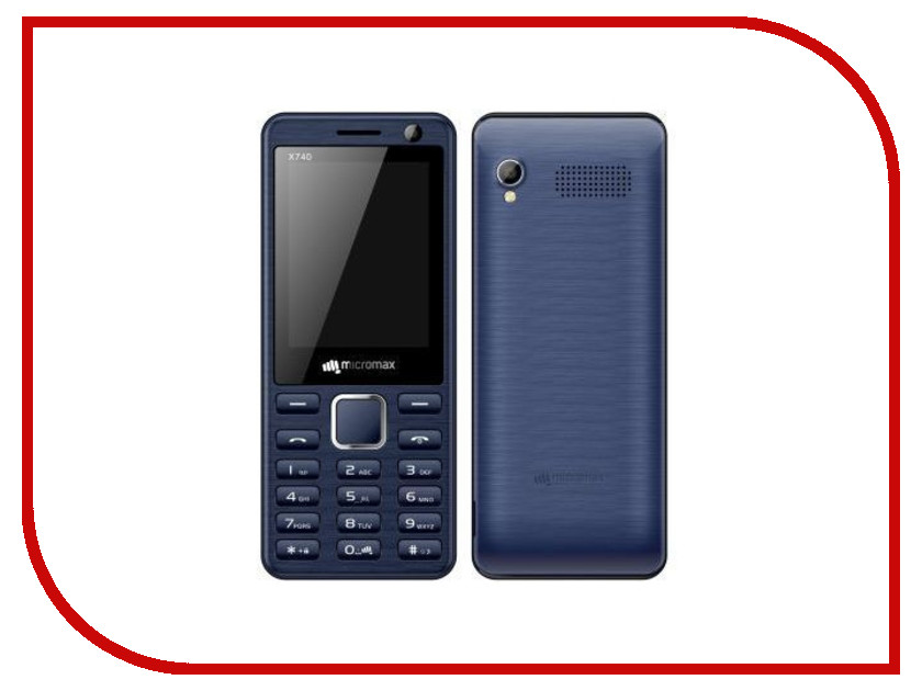 Сотовый телефон Micromax X740 Blue сотовый телефон micromax q326 champagne