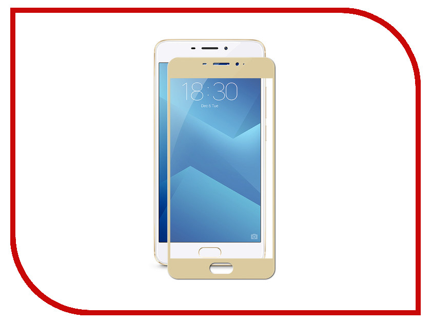 Аксессуар Защитное стекло для Meizu M5 Note Ainy Full Screen Cover 0.33mm Gold AF-MC678L for meizu m2 note meilan note2 lcd display touch screen digitizer assembly replacement parts free shipping with tools as gift
