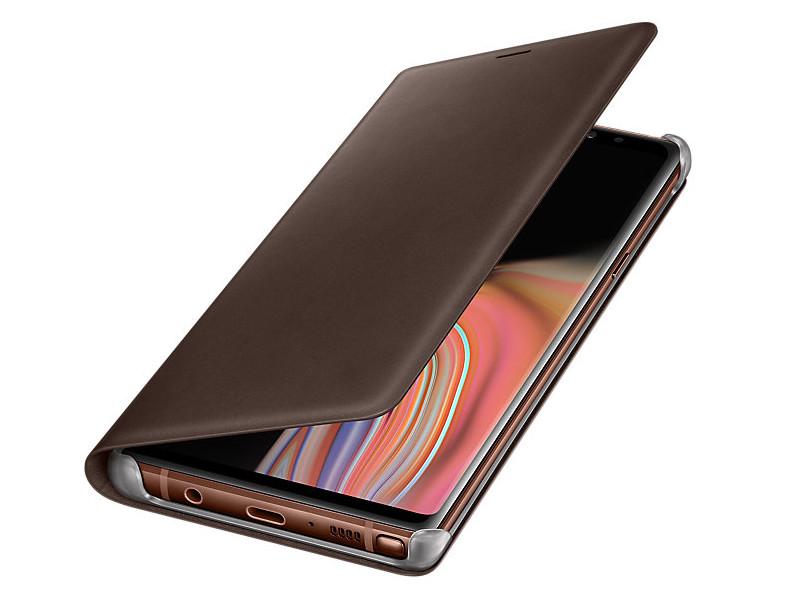 Аксессуар Чехол Samsung Galaxy Note 9 N960 Leather Wallet Brown EF-WN960LAEGRU аксессуар чехол samsung galaxy note 9 n960 led view cover blue sam ef nn960plegru