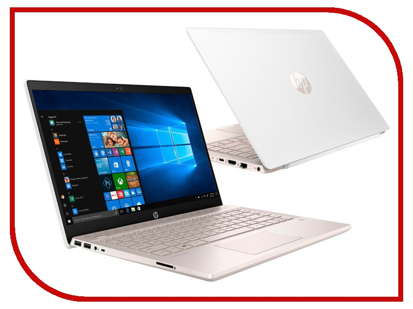 Ноутбук HP Pavilion 14-ce0003ur 4GR11EA Ceramic white with Pale Rose Gold (Intel Pentium 4415U 2.3 GHz/4096Mb/1000Gb/No ODD/Intel HD Graphics/Wi-Fi/14.0/1920x1080/Windows 10 64-bit)