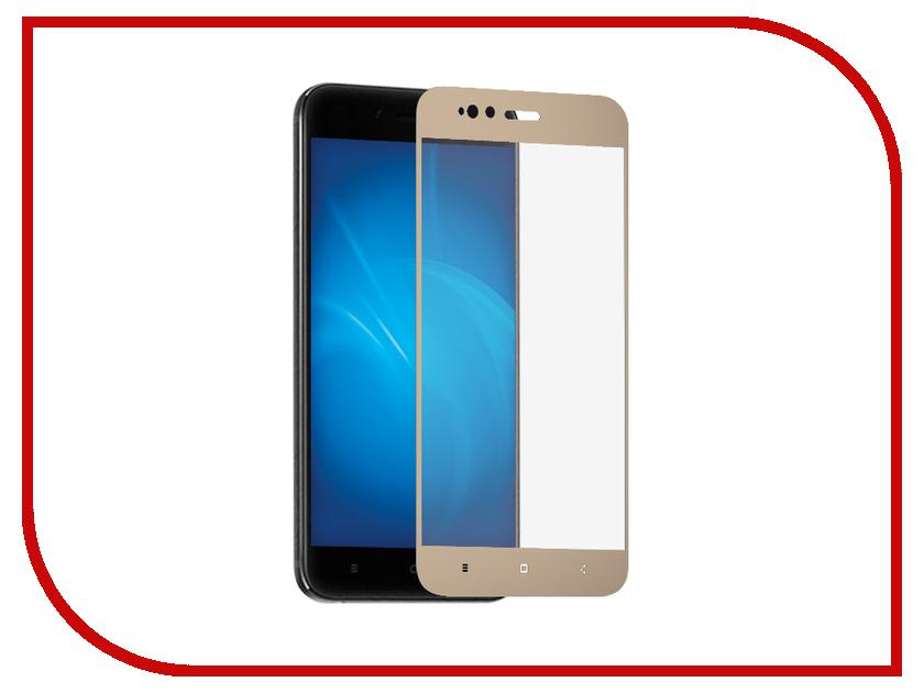 Аксессуар Защитное стекло для Xiaomi Mi5X/Mi A1 Ainy 0.33mm Full Screen Cover Gold AF-X947L