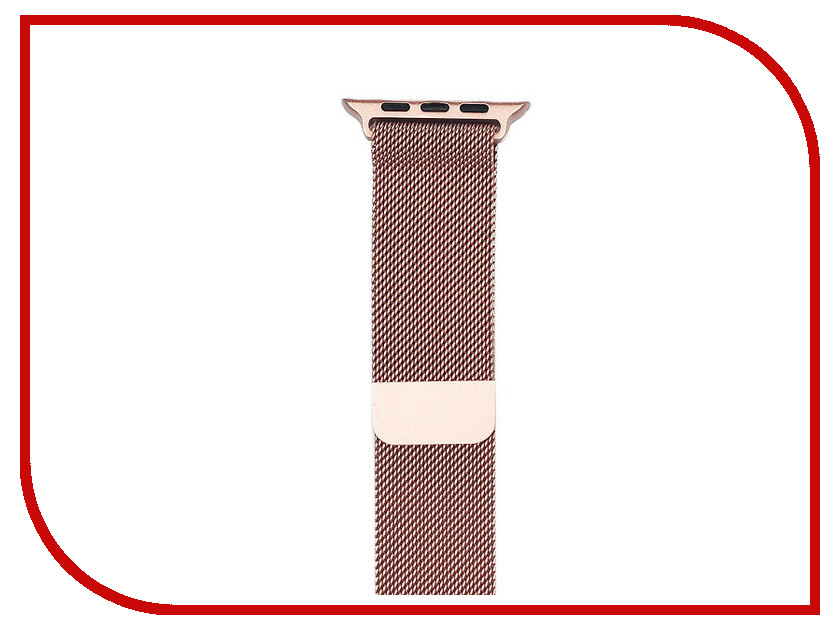 Аксессуар Ремешок Gurdini Milanese Loop для APPLE Watch 38mm Rose Gold 904821 stainless steel 23mm milanese magnetic loop watch band wrist strap for fitbit blaze metal bracelet black silver rose gold i88