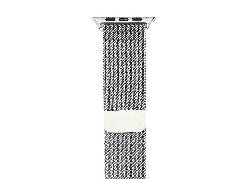 Аксессуар Ремешок Gurdini Milanese Loop для APPLE Watch 38mm Silver 906158 genuine leather loop watchband for apple watch leather loop band with magnetic closure for iwatch milanese loop
