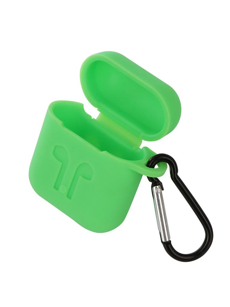 Аксессуар Чехол Gurdini Soft Touch Silicone для APPLE Airpods Green 906665 аксессуар чехол gurdini soft touch silicone для apple airpods turquoise 906289