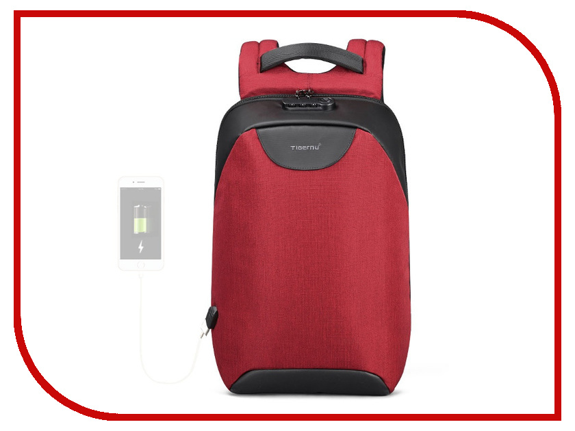 Фото - Рюкзак Tigernu 15.6-inch T-B3611 Red 2018 tigernu new arrival laptop backpack 15 6 inch usb charge for men