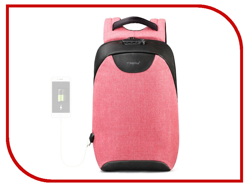 Рюкзак Tigernu 15.6-inch T-B3611 Pink 2018 tigernu new arrival laptop backpack 15 6 inch usb charge for men