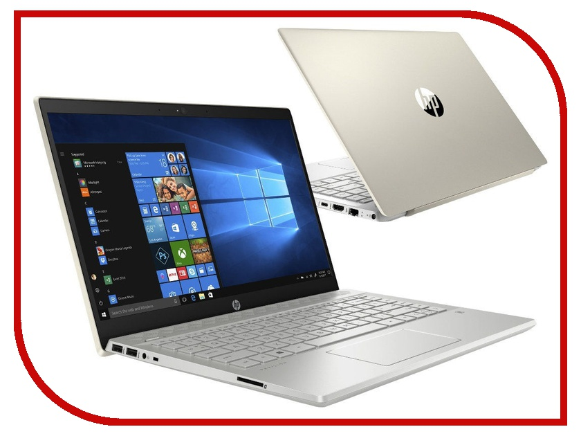 Ноутбук HP Pavilion 14-ce0002ur Gold 4HD82EA (Intel Pentium 4415U 2.3 GHz/4096Mb/1000Gb/Intel HD Graphics/Wi-Fi/Bluetooth/Cam/14.0/1920x1080/Windows 10 Home 64-bit)