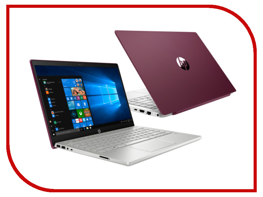 Ноутбук HP Pavilion 14-ce0009ur Vinous 4HA19EA (Intel Core i3-8130U 2.2 GHz/4096Mb/1000Gb/Intel HD Graphics/Wi-Fi/Bluetooth/Cam/14.0/1920x1080/Windows 10 Home 64-bit)
