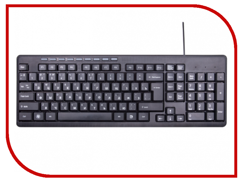 Клавиатура Ritmix RKB-155 Black ritmix rkc 001 клавиатура мышь