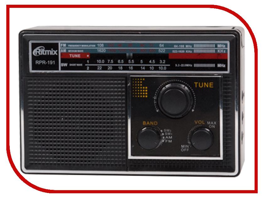 Радиоприемник Ritmix RPR-191 Black видеорегистратор ritmix avr 620 basic