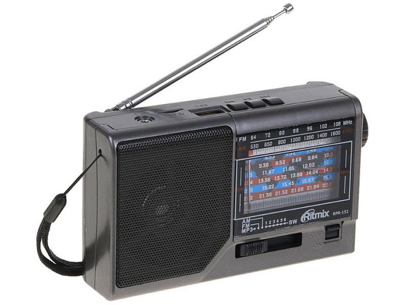 Радиоприемник Ritmix RPR-151 Black-Grey радиоприемник ritmix rpr 444