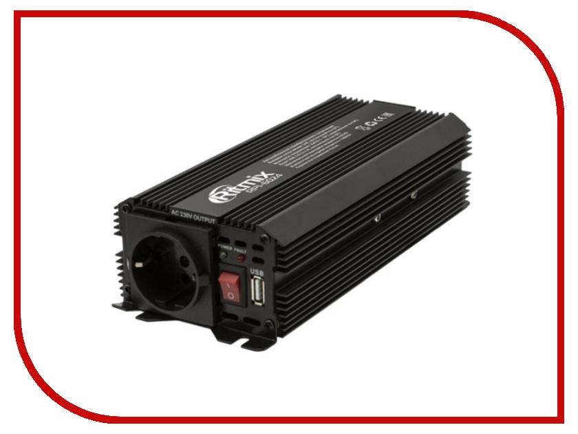Автоинвертор Ritmix RPI-6024 Black с 24В на 220В автоинвертор airline api 1000 06 с 24в на 220в