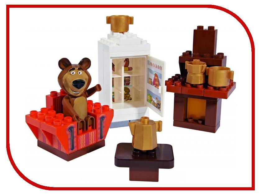 Конструктор Big Маша и Медведь Кухня Мишки 35дет big big конструктор маша и медведь бассейн 29 деталей