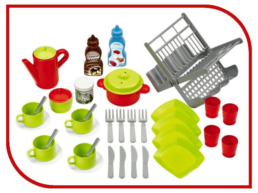 Ecoiffier Chef Набор посуды с сушилкой 2619 набор игровой ecoiffier сушилка для посуды посуда 39 предметов