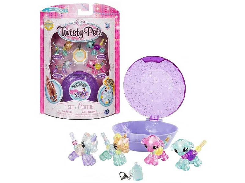 Набор для творчества Spin Master бусин плетения 4 браслетов мини-питомцев Twisty Petz 74102