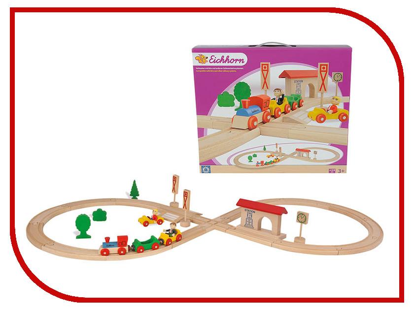 все цены на Игрушка Eichhorn Поезд с колеей и фигурками, 1202 онлайн