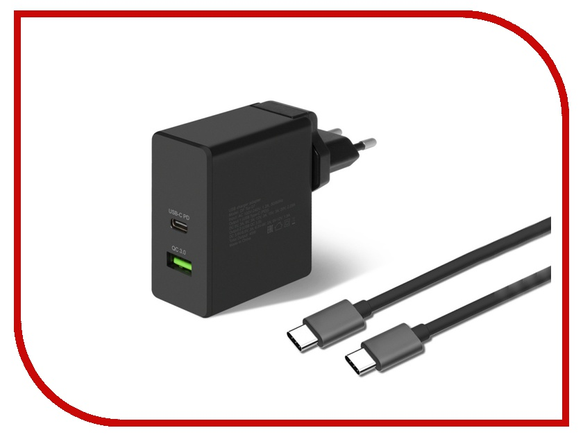 Зарядное устройство DF Tor-07 1xUSB QC 3.0 Type-C кабель Type-C/Type-C зарядное устройство df tor 02 1xusb 1 5 3a qc 3 0 кабель type c