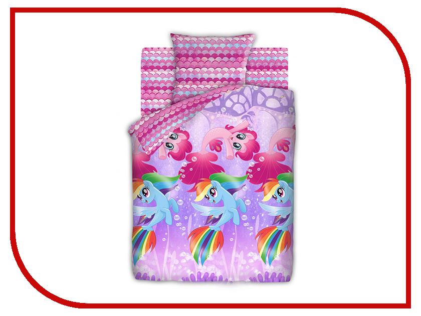 Постельное белье Непоседа My Little Pony Подводные пони 8918-1/8919-1 Комплект 1.5 спальный Бязь 437679 постельное белье эго комплект 1 5 спальный полисатин