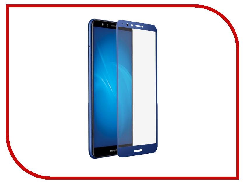 Аксессуар Защитное стекло дляHuaweiHonor7APro/Y6/Honor7C/Y6 Prime 2018 DF Fullscreen+FullgluehwColor-54 Blue аксессуар защитное стекло для huawei y6 y6 prime 2018 onext 3d black 41779