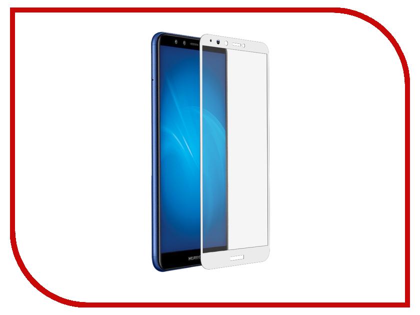 Аксессуар Защитное стекло для Huawei Honor 7A Pro/Y6 /Honor 7C/Y6 Prime 2018 DF Fullscreen+FullgluehwColor-54White аксессуар защитное стекло для huawei y6 y6 prime 2018 onext 3d black 41779