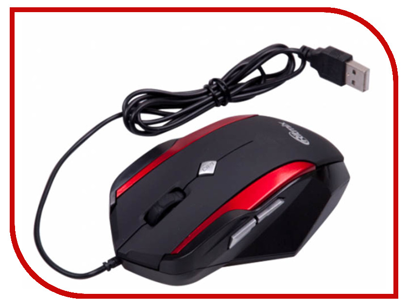 Мышь Ritmix ROM-307 Gaming Black-Red ritmix rom 303 black мышь