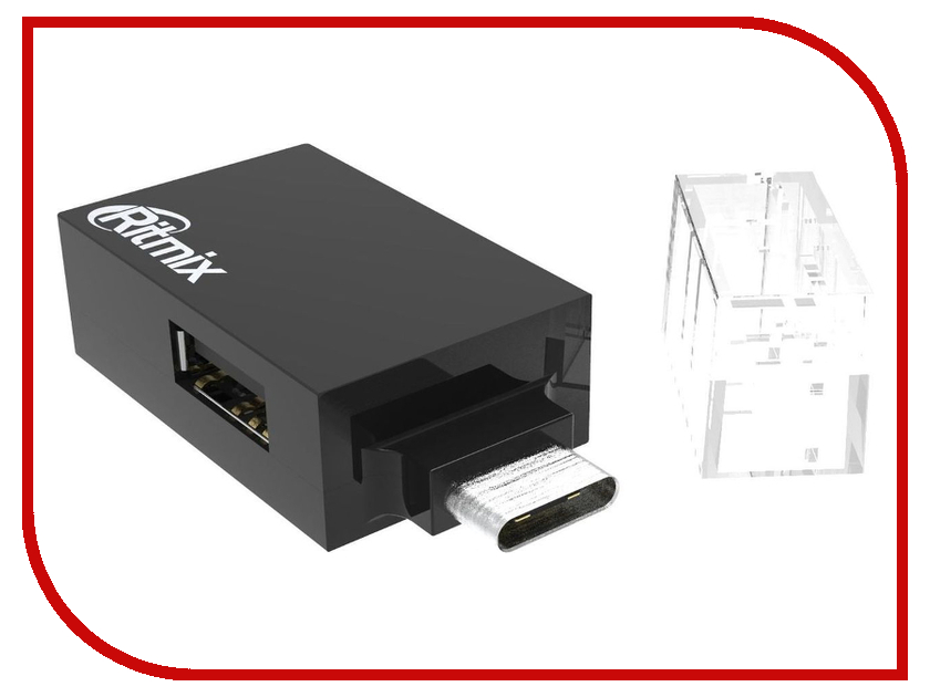 Хаб USB Ritmix CR-3391 Type-C - 3xUSB Type-A Black 50pcs micro usb 3 0 male to usb c usb 3 1 type c female extension data cable for macbook tablet 10cm by fedex