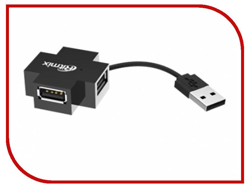 Хаб USB Ritmix CR-2404 USB 4-ports Black