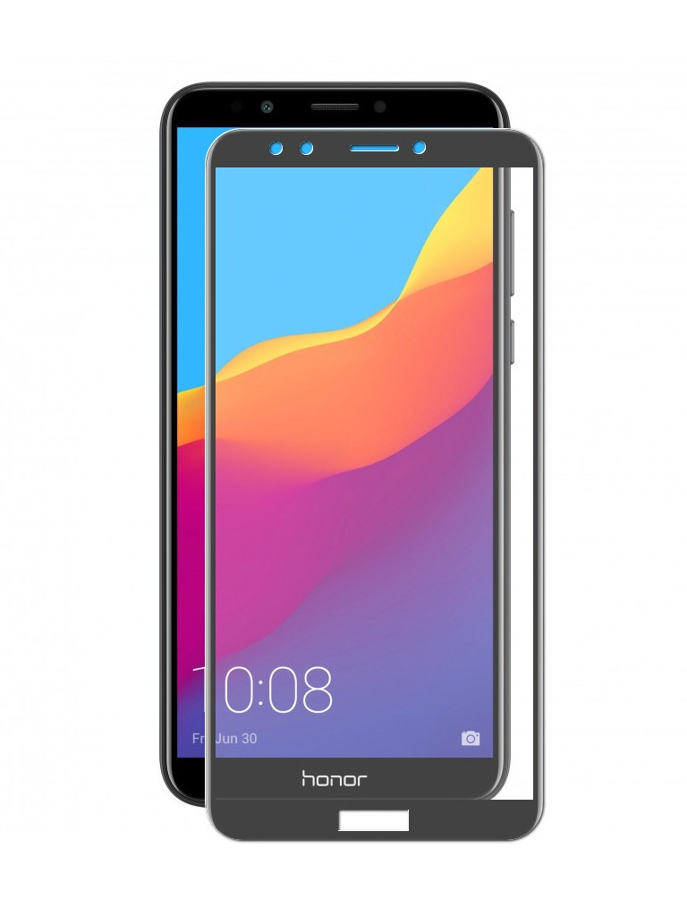 Аксессуар Защитное стекло LuxCase для Huawei Y7 Prime / Honor 7C Pro 2.5D Full Screen Black Frame 77983 цена и фото