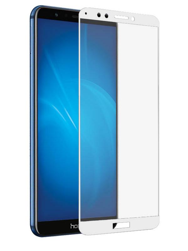 Аксессуар Защитное стекло LuxCase для Huawei Honor 7C / 7A Pro 2.5D Full Glue White Frame 77873 защитное стекло luxcase honor 7с 7a pro