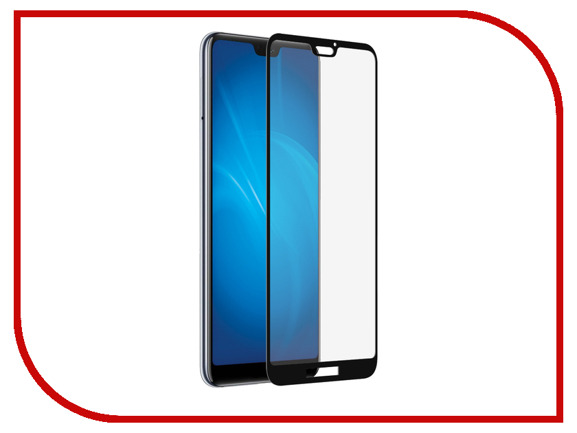 Аксессуар Защитное стекло для Huawei Mate P20 Lite LuxCase 2.5D Full Screen Full Glue Black Frame 77501 дефлектор капота sand tiger для ford kuga ii 2012 2016