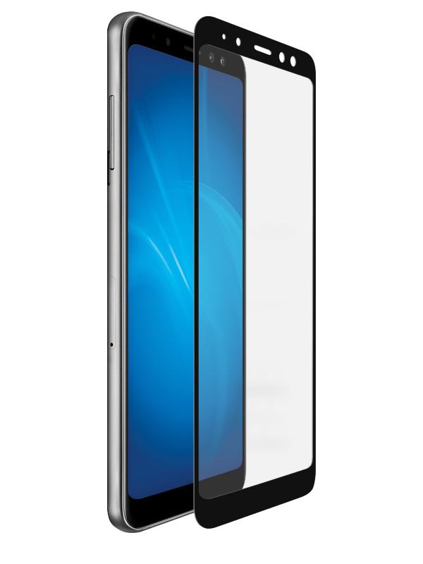 Аксессуар Защитное стекло DF для Samsung Galaxy A8 2018Full Screen+Full Glue sColor-36Black