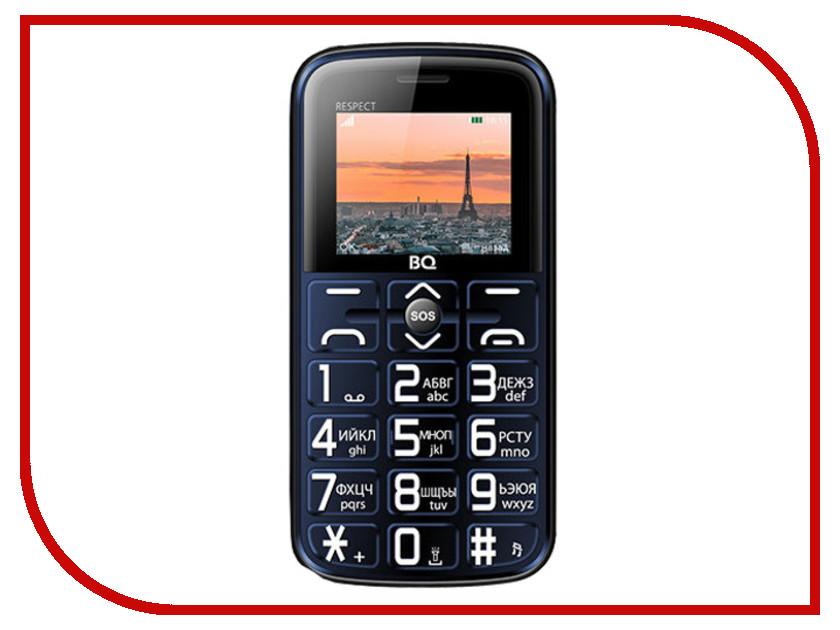 Сотовый телефон BQ BQ-1851 Respect Blue сотовый телефон senseit t100 black