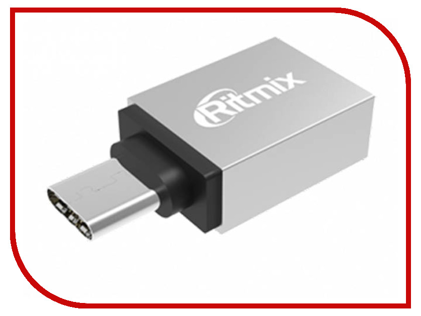 Аксессуар Ritmix OTG USB Type-C - USB 3.0 CR-3092 Silver 50pcs micro usb 3 0 male to usb c usb 3 1 type c female extension data cable for macbook tablet 10cm by fedex