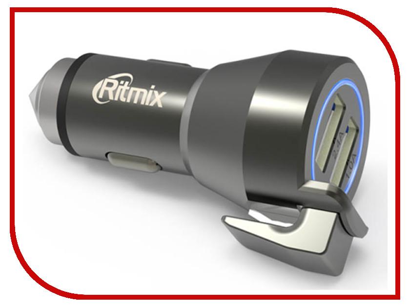 Зарядное устройство Ritmix RM-2429DC 2xUSB автомобильное зарядное устройство ritmix rm 2429dc 1 2 4 а 2 х usb черный